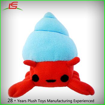 Red Blue Sewing Pattern Stuffed Plush Toy Hermit Crab - Buy Plush ...