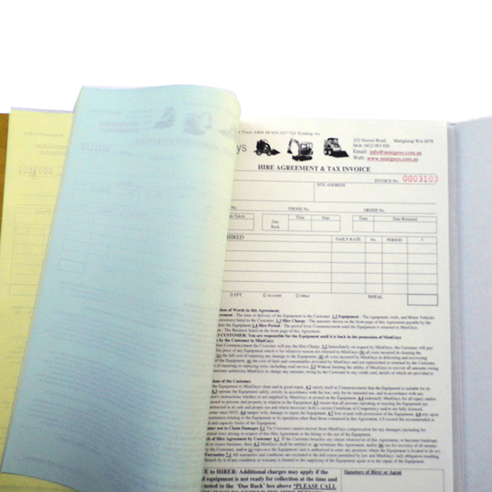 carbonless copy receipt book duplicate carbonless ncr forms