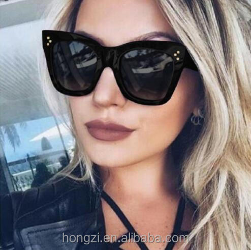 Square Sunglasses women cat eye vintage retro black Sun Glasses clear lens large frame Female Shades oculos gafas фото