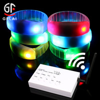 Cool Novelty Products Wholesale Return Gifts RGB Rfid Led Silicone Wristband