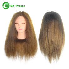 high quality long length 50% human hair mannequin head