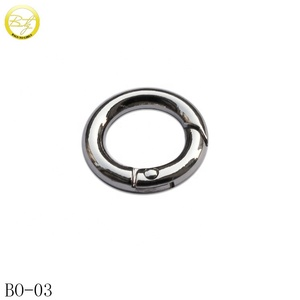 Nickel Plated Metal Trigger Snap Clip Spring Gate O Ring For Bag Accessories
