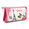2016 new Promotion Gift bag Portable Handbag Paris or Butterfly print Make Up tools bag Present pouuch