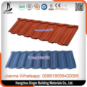 SGB Color Diversity roofing stone coated step tiles in nigeria, arched roof