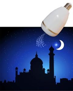 Holy digital quran color changing led bulb light smart blue tooth quran speaker