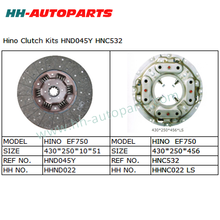 Clutch Disc HND045Y, Clutch Cover Exedy HNC532 for Hino Clutch Kit
