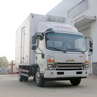 4-8 ton JAC refrigerated cold room truck small freezer van