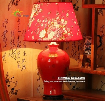 Lucky red chinese ceramic vase table lamps for wedding table lucky red chinese ceramic vase table lamps for wedding table decoration aloadofball Choice Image