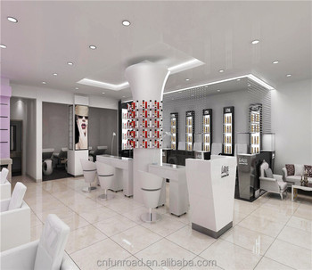 Modern Nail Salon Reception Desk Interior Design - Buy Manicure ...