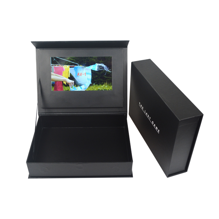 Customized Design 4.3'' 5'' 7'' 10.1'' LCD Video Gift Box video invitation box