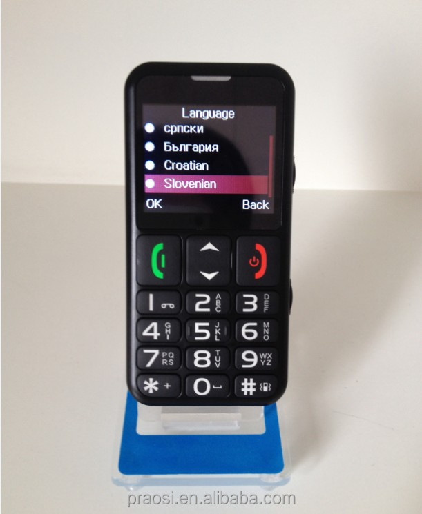 S9 senior bar senior old people mobile phone with open FM radio phone book and phone number speed