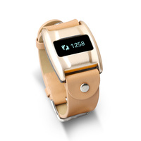 CE ROHS Leather Life Waterproof Bluetooth Bracelet Support Andriod and IOS Heart Rate Health Luxury Smart Watch