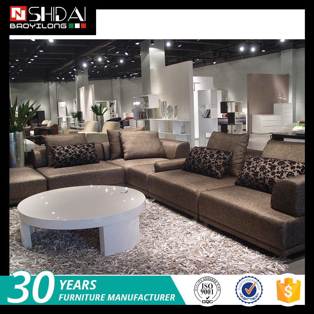 Kiln dried solid wood frame modern european style fabric sofa g127 re