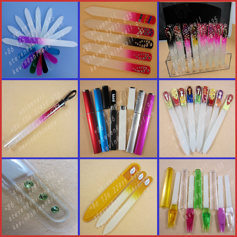 Hot sell colorful mini glass nail file