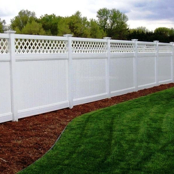 Lattice Top Privacy White Pvc Fence Panels
