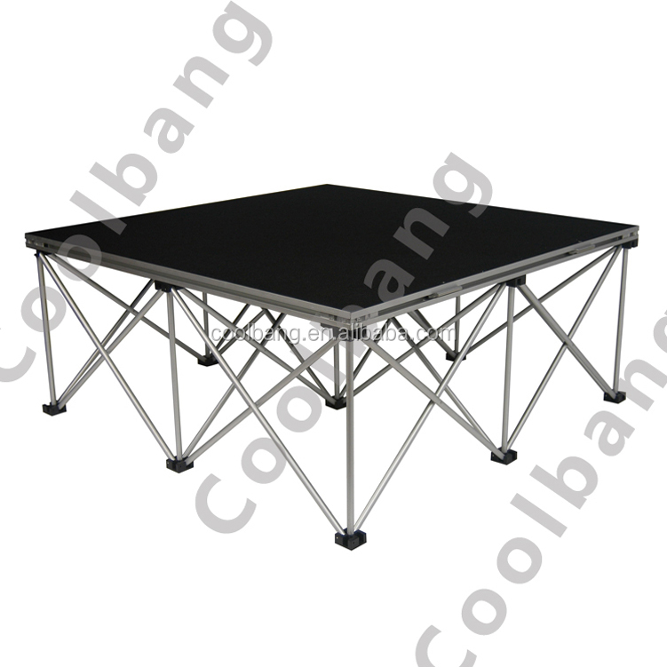 Latest style easy install DIY aluminum portable truss <strong>stage</strong> for exhibition