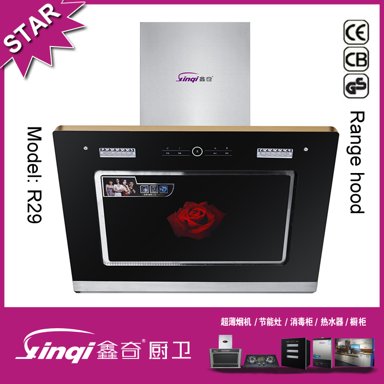 2016 Modern Restaurant Chinese Industrial Kitchen Range cooking Hood