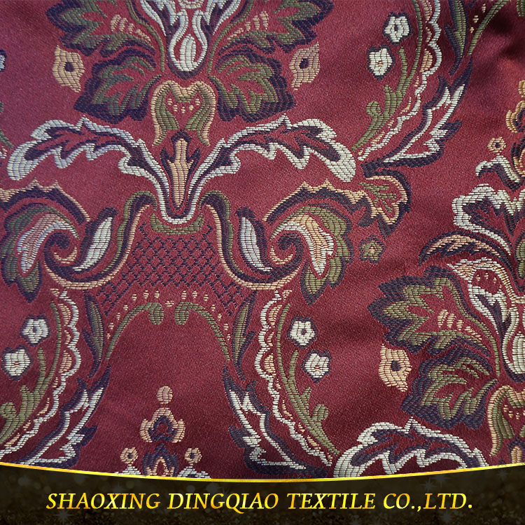 2017 luxury elegant 100% polyester jacquard sofa fabric, jacquard printing fabric, jacquard for wedding
