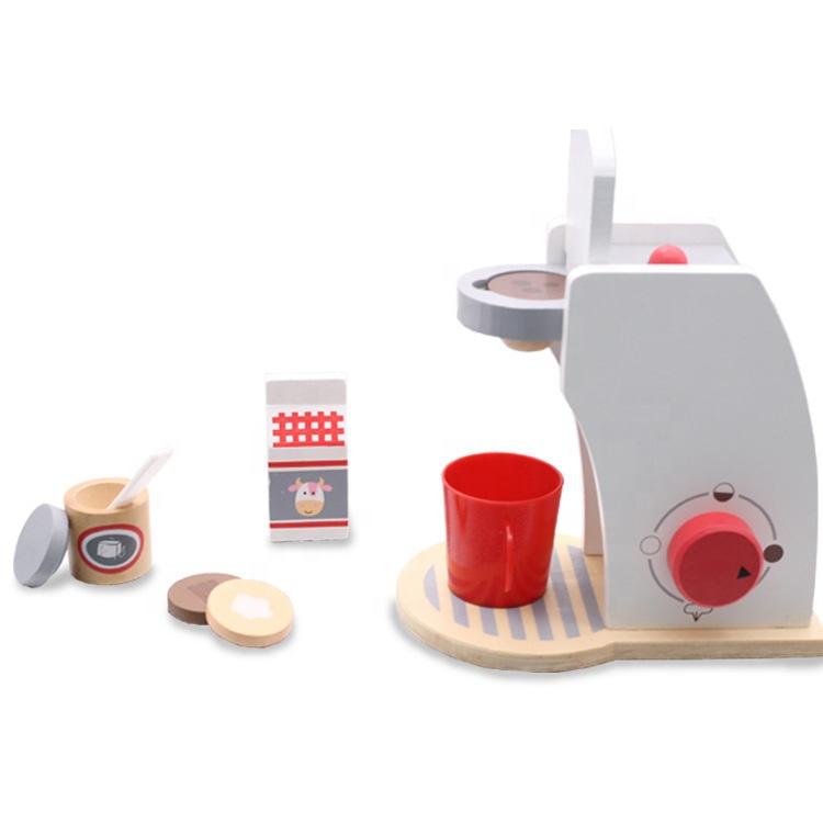 Diy Toy Coffee Machine Set Pretend Play Wooden Toys Coffee Maker Wooden Kitchen Toy