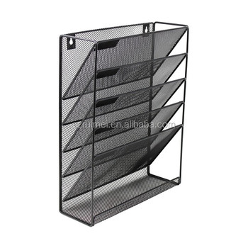 Office Home Metal Mesh Wall Hanging File Organizer Holder - Buy Metal Mesh  File Holder Organizer,Hanging Wall Files,Office File Rack Product on