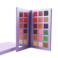 customized color 18 Colors Private Label Eye Shadow Palette Square Eyeshadow pan factory price