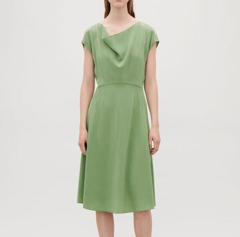 6ba9ba97537e Green Summer Short Sleeve Casual Loose Cotton Women s Dresses for Europe