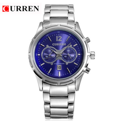 Original Curren brand 8045 high quality full stainless steel auto date diaply waterproof wrist watch
