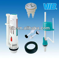 Accessories for tank of toilet with flush valve and fill valve and gasket