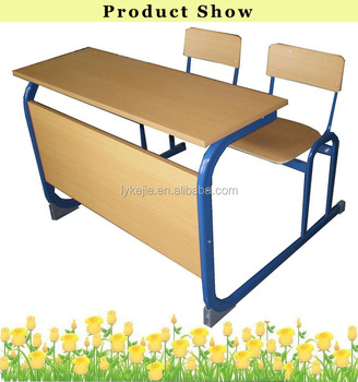 Classroom Desk And Chair Study Kids School Desk With Attached Chair /  Folding Table And Chair
