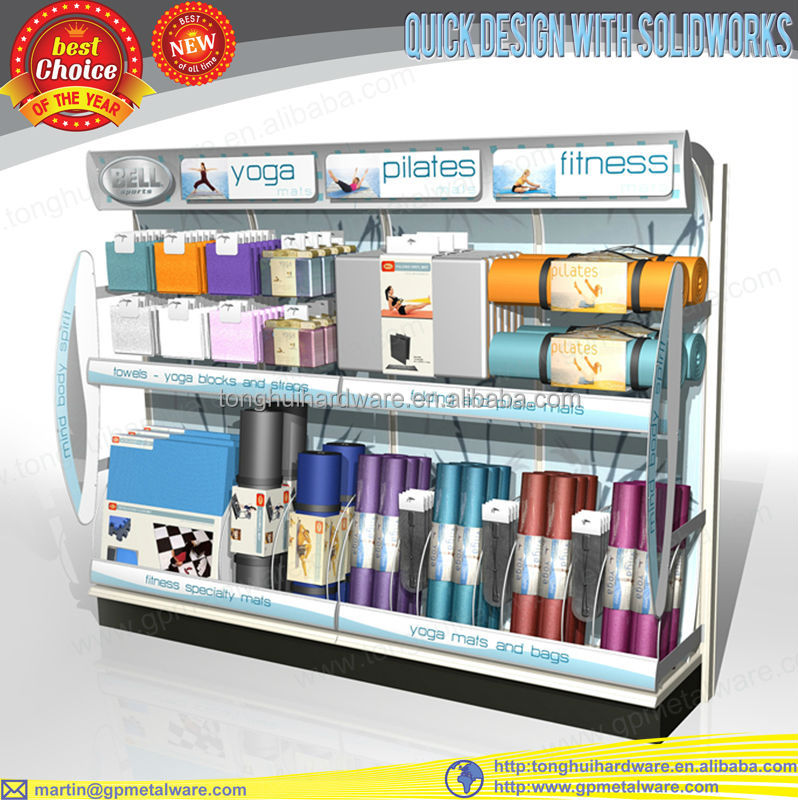 2015 fashion yoga sports store display rack