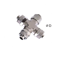 Pneumatische Componenten RPZA <span class=keywords><strong>Unie</strong></span> Kruis Twee Touch Fittings messing materiaal vernikkeld Pneumatische snelle fittings quick connectors
