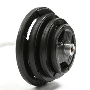 3 grip black Cast Iron Rubber Coated Weight Plates 2.5kg