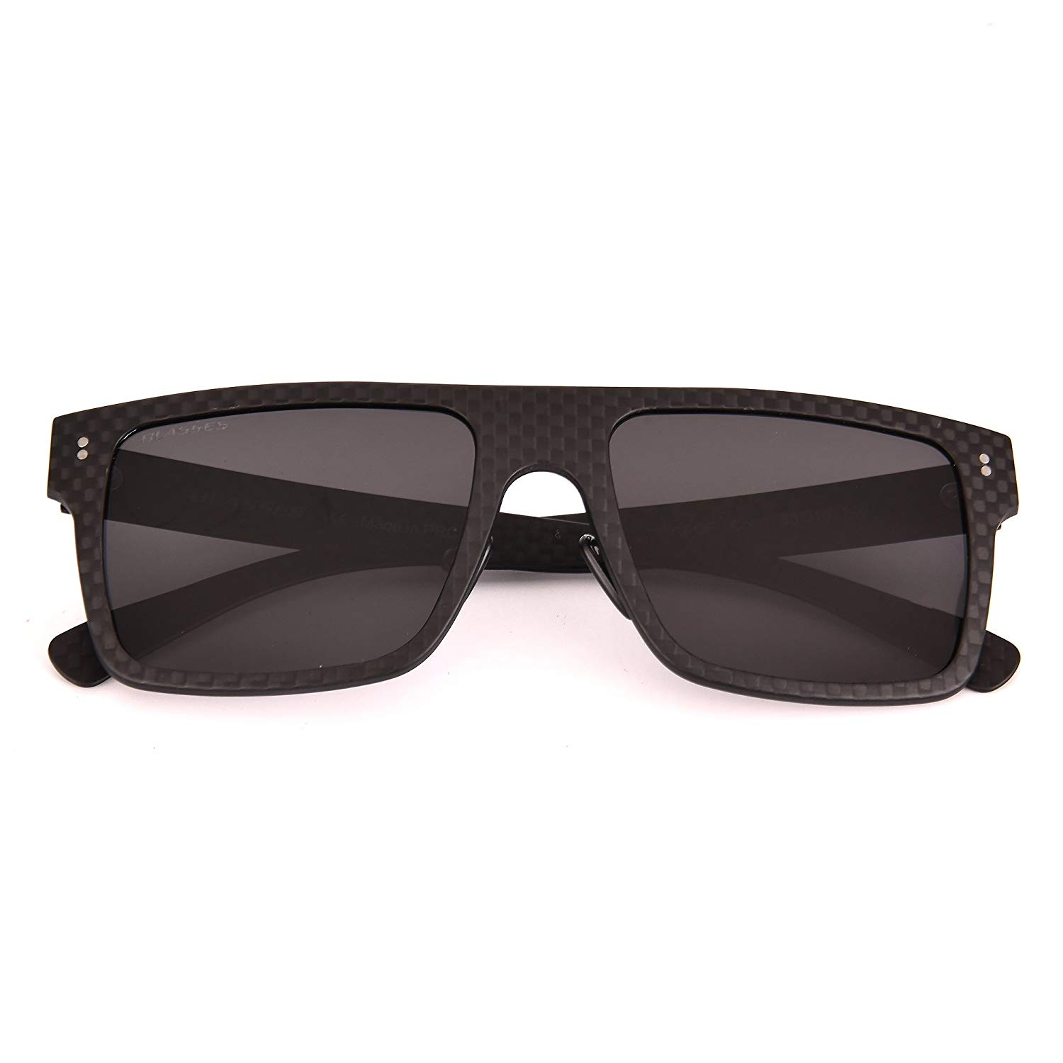 29b4619f58 Get Quotations · BLASSES Square Men Women Sunglasses Polarized Carbon Fiber  Sunglasses for Outdoor