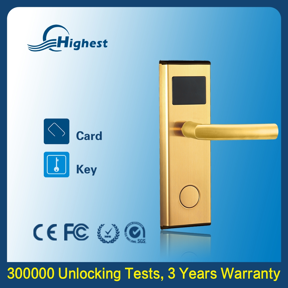 5V DC Battery Powered Electronic Key Easy To Install Removable Connecting Door Lock
