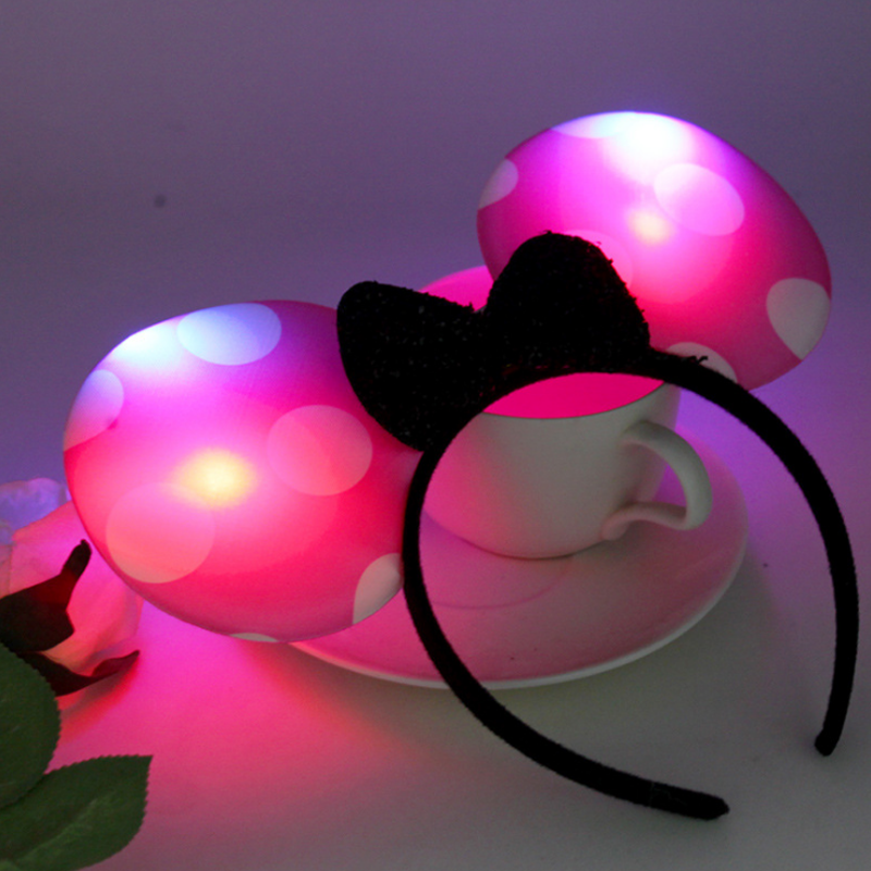 New design fashion <strong>headband</strong> hot sale mickey LED <strong>headband</strong> for club party