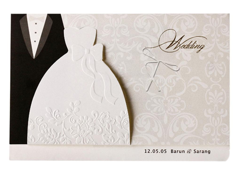 Formal Attire On Wedding Invitation: Formal Wedding Invitations Cards With Printing Black
