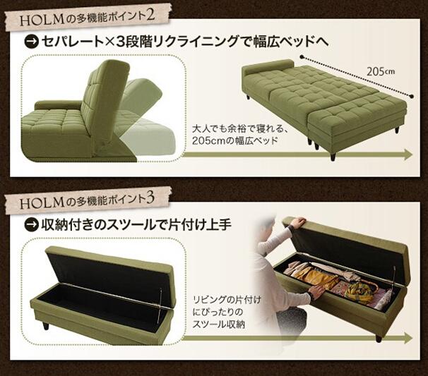 Transformable Muebles Sofá Cama/verde Sofá Cama Con Otomana Y ...