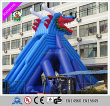Best design giant water park dragon theme slide inflatable water slide for adults and kids
