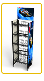 customized size durable wholesale wire display rack