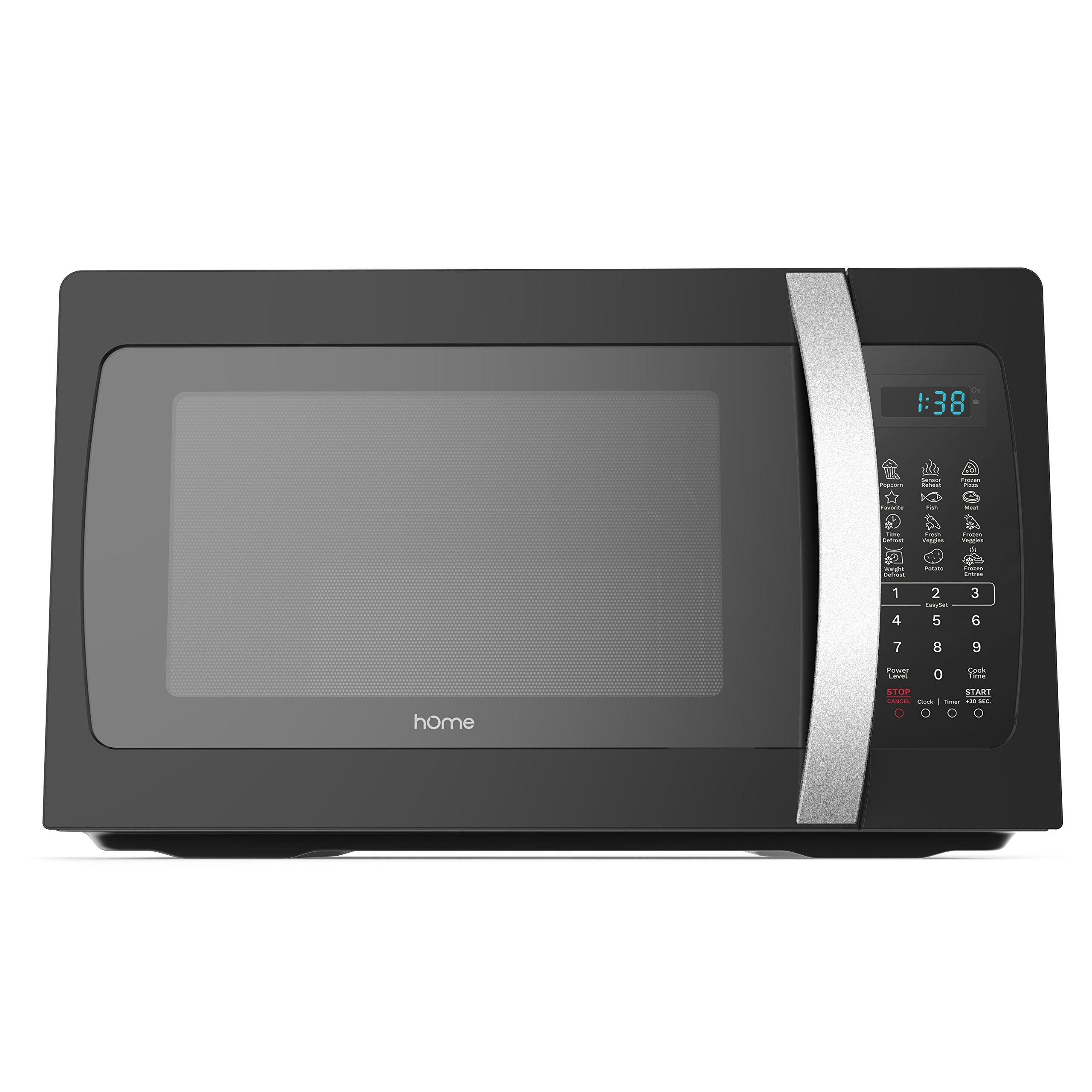 Get Quotations · hOmeLabs 1050 watt Countertop Microwave Oven with  Accessories - Black Stainless Steel Microwave Cooker 1.3 cu