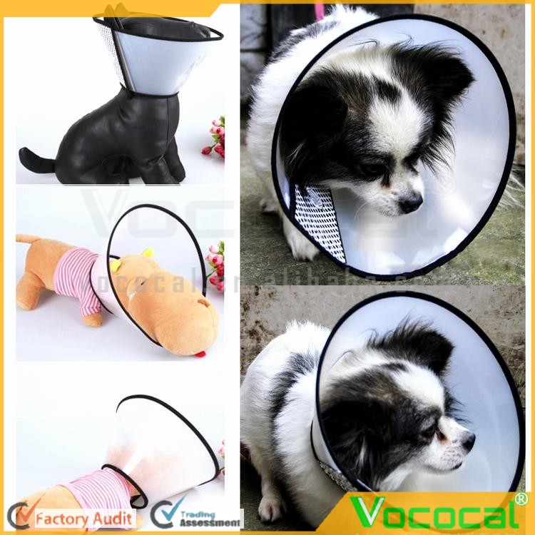 Comfy Plastic Pet Dog Cat Elizabethan Cone Collars Wound Healing Remedy Recovery Protective E-Collar Applicable Neck Circumferen