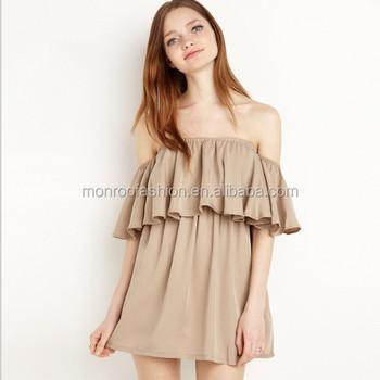 Monroo Süße Off Schulter Kleid Neuesten Westlichen Kleid Design ...