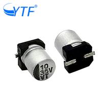 Mower aluminum capacitors 5*5.4 RVT series of 35v 10uf in china market