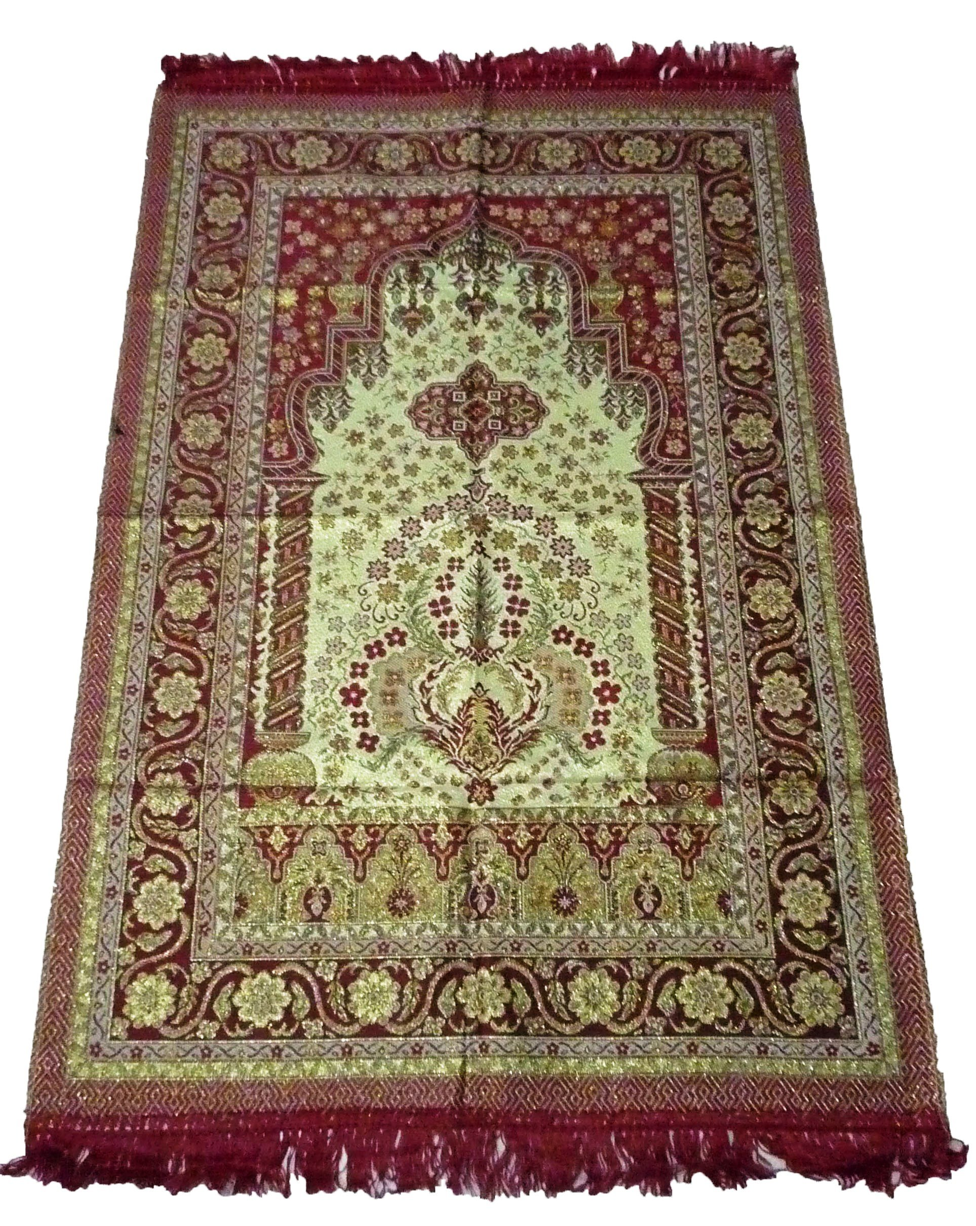AMN Islamic Portable Prayer Mat Muslim Janamaz Sajadah Namaz Sajjadah Thin Red