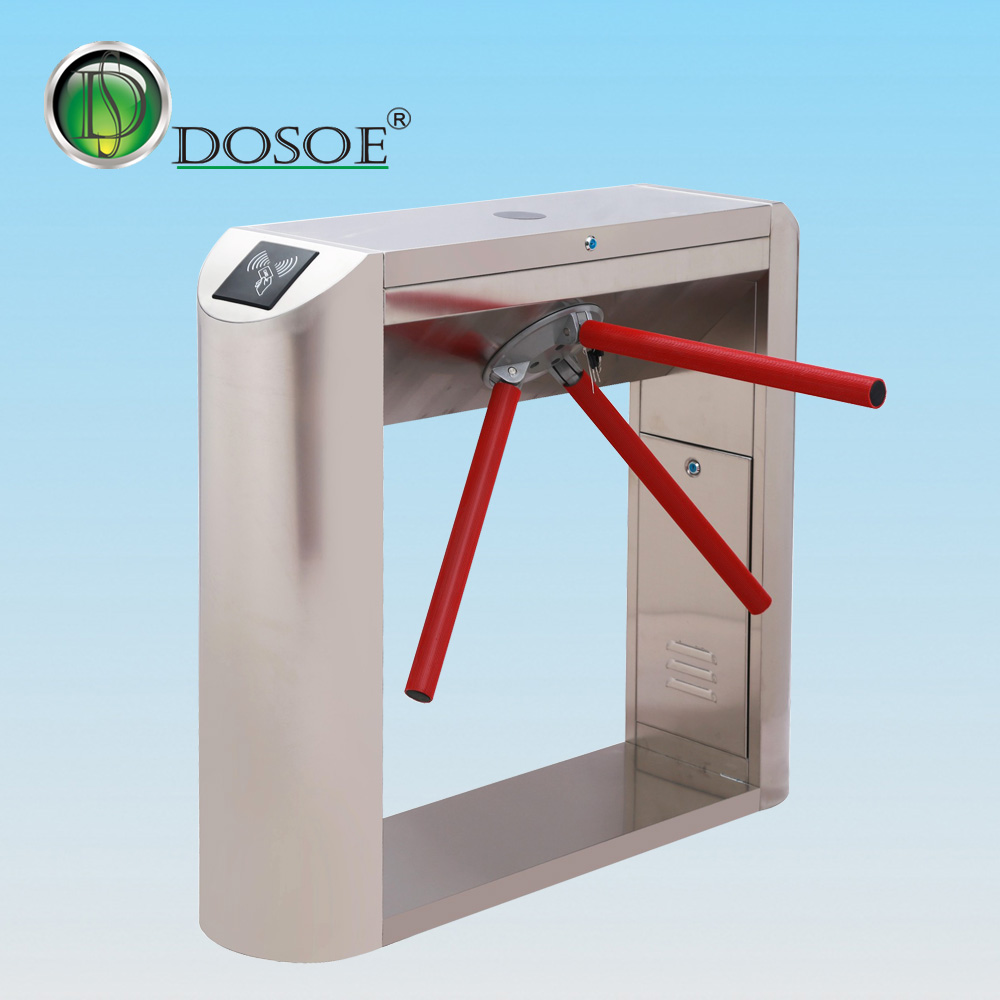 Electronic Remote Control Tripod Turnstile Outdoor Security Access Gate Turnstile