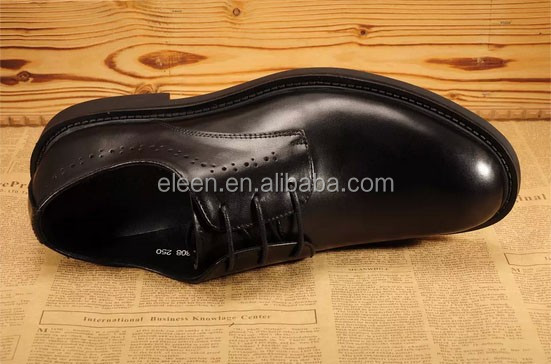 leather shoes dress Elegant genuine men black XZqnOtfwAx