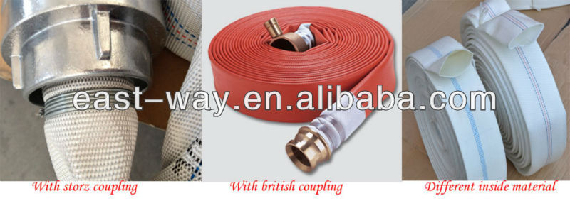 1.5inch 8bar pvc or pu lined fire fighting hose