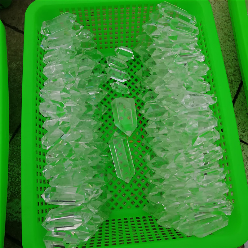 Wholesale natural double terminated clear  white quartz points crystal wands