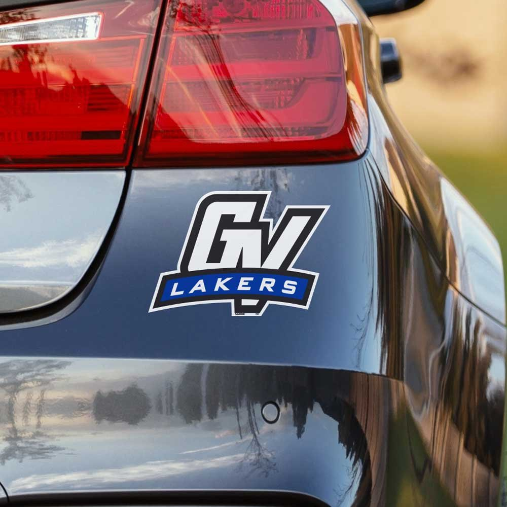 Get quotations · nudge printing grand valley state university gvsu lakers gv car window decal bumper sticker emblem laptop