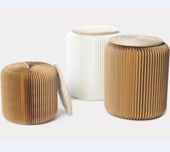 foldable cardboard furniture. Honeycomb Paper Chair Foldable Cardboard Easy Take Away Furniture E